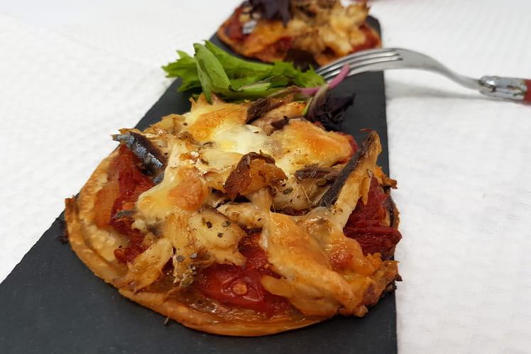 Mini pizza au maquereau