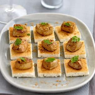 foie gras rôti aux épices et speculoos