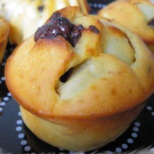 muffins poires et chocolat sans matière grasse