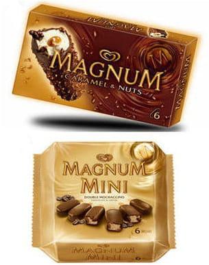 barres magnum et mini double mochaccino