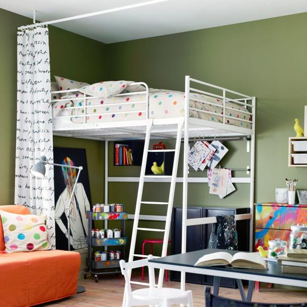 lit mezzanine notre s lection gain de place. Black Bedroom Furniture Sets. Home Design Ideas