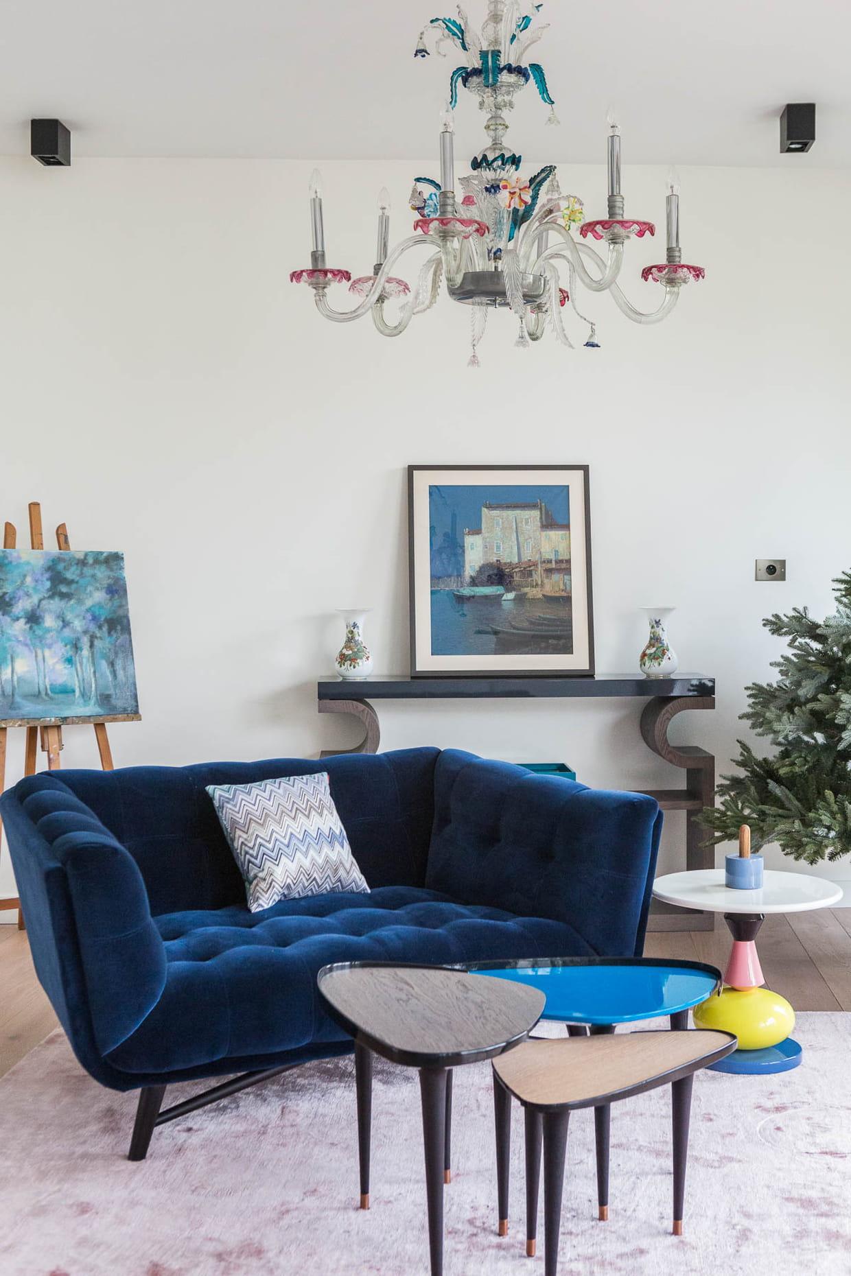 Salon bleu marine