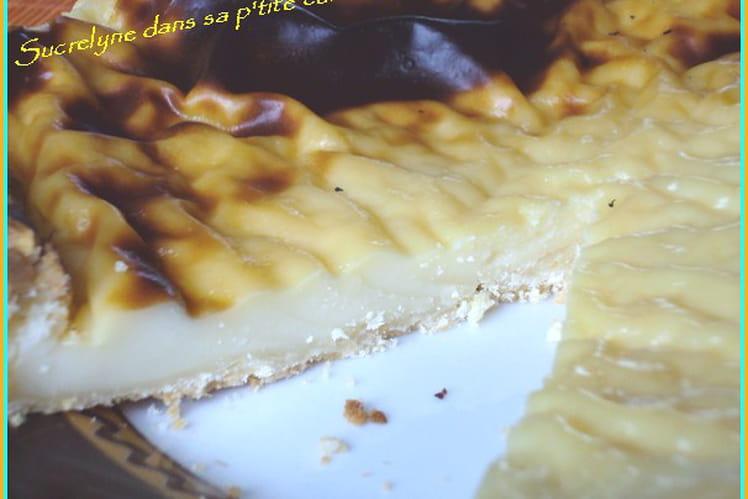 Flan sur pâte aux amandes