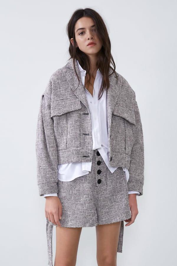 Veste en tweed de Zara