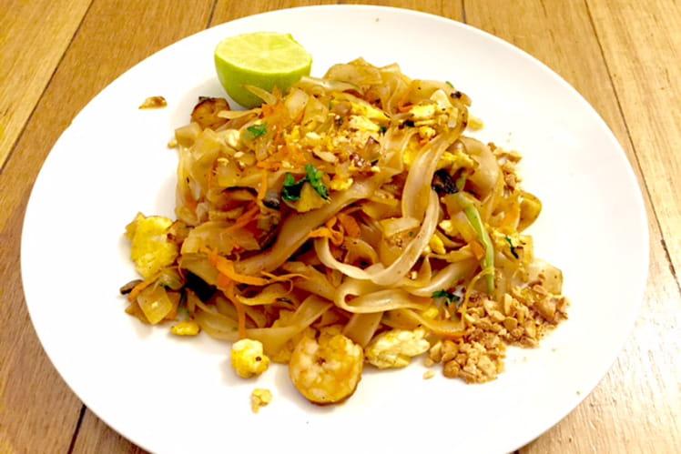 Pâtes thaïlandaise aux gambas - Pad thaï