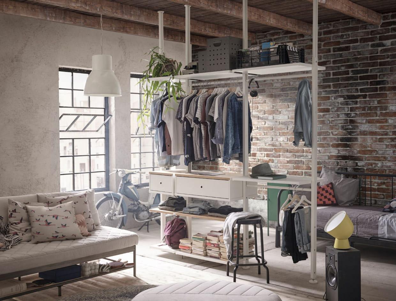 Dressing Ikea Angle Sans Porte dressing ikea : 20 modèles bien pratiques