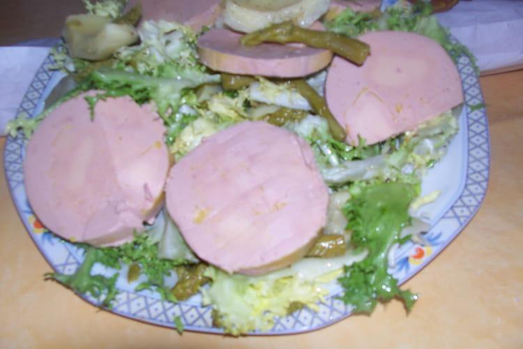 Foie gras en salade