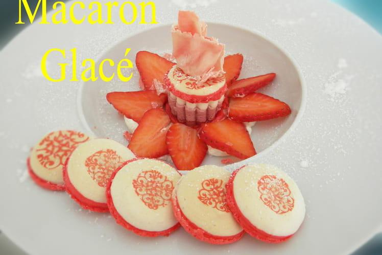 Macaron glacé citron fruits rouges