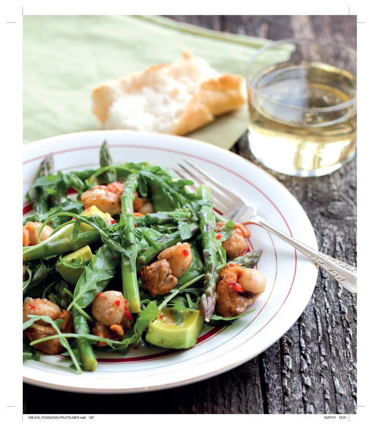 recette de salade d asperges aux pois gourmands et aux saint jacques la recette facile. Black Bedroom Furniture Sets. Home Design Ideas