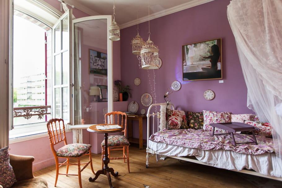 les couleurs mauve et parme en d co. Black Bedroom Furniture Sets. Home Design Ideas