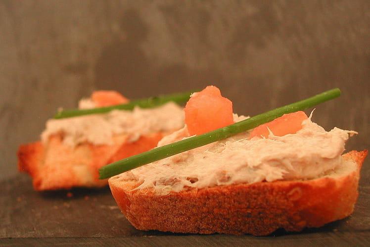 Rillettes de sardines au Saint Morêt