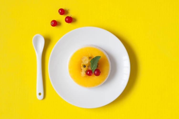 Panna cotta mangue fruit de la passion
