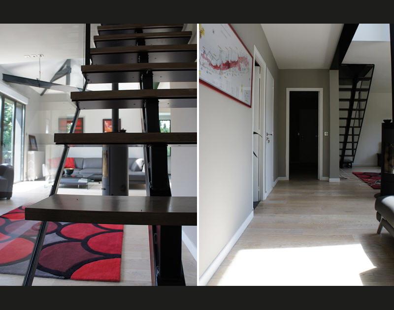 L'escalier, contemporain, squelettique et aérien