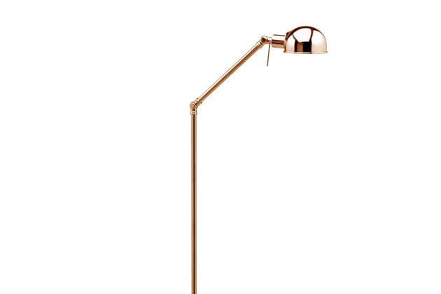 Le lampadaire industriel effet cuivre