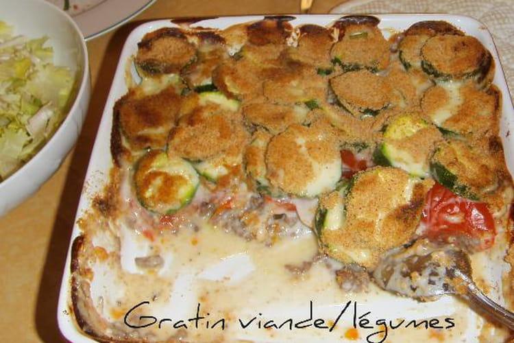 Gratin viande/légumes