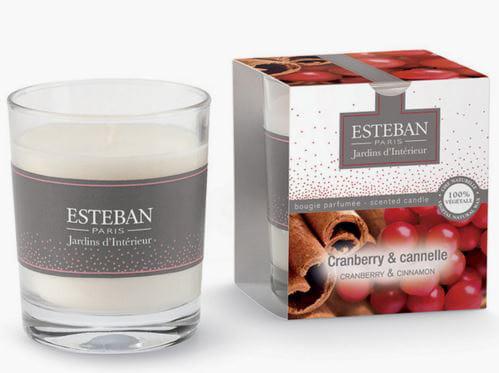 Bougie Cranberry et Cannelle d'Esteban