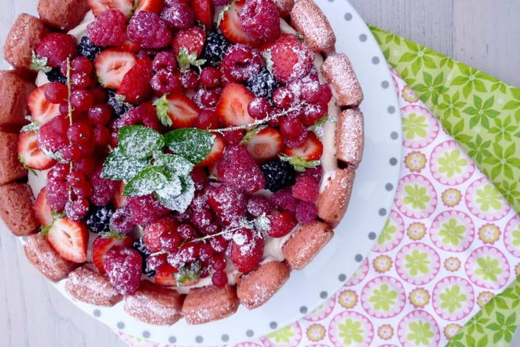 Charlotte aux fruits rouges simple et rapide