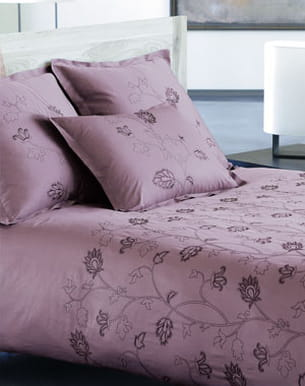 linge de lit 'rêve de soie' de carré blanc