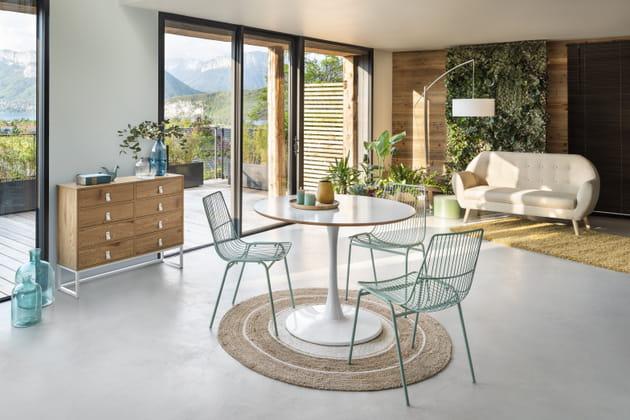 lot de 2 chaises eole vert d 39 eau de gifi. Black Bedroom Furniture Sets. Home Design Ideas