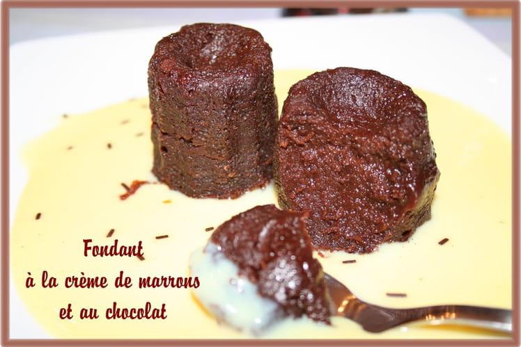 Fondant express à la crème de marron et chocolat