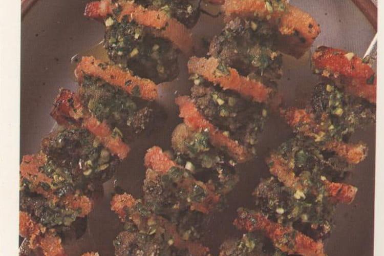 Escargots en brochettes