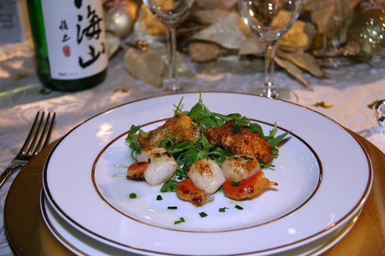 Recette de Noix de St-Jacques aux huîtres plates panées ...