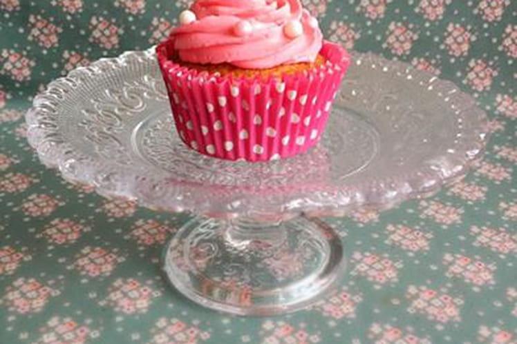 Cupcake vanille-rose