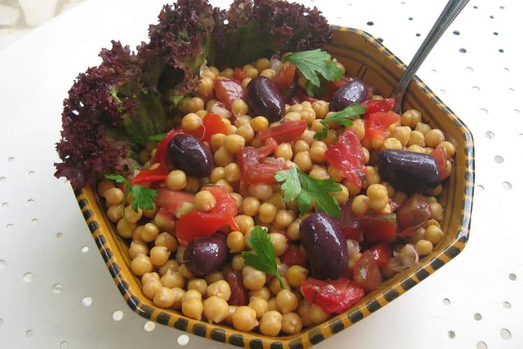 Salade de pois chiches rafraîchissante