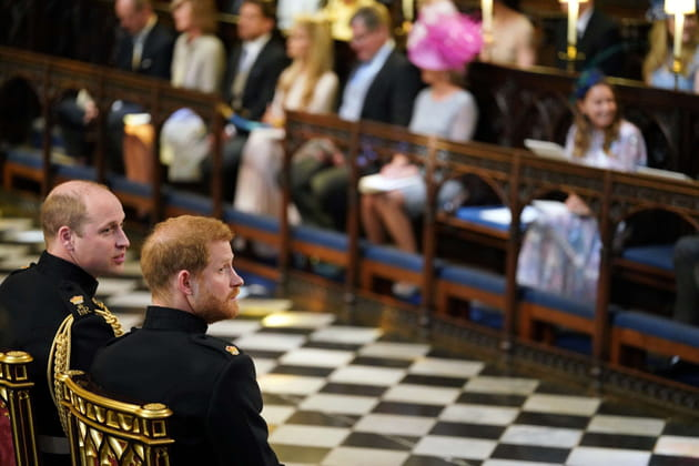 Le prince Harry et son témoin, son frère William