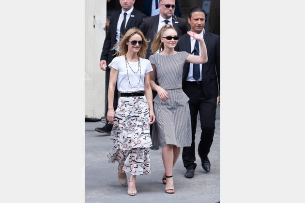 Vanessa Paradis et Lily-Rose Depp chez Chanel