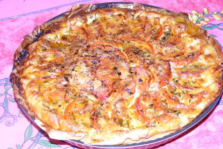Tarte feuilletée tomate et mozzarella
