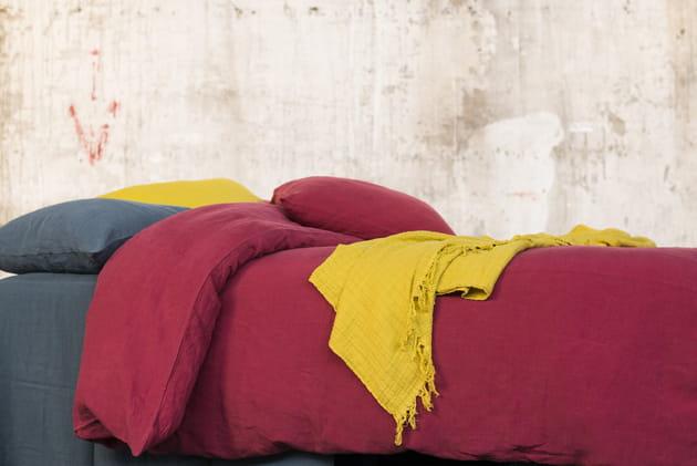 Parure de lit en lin coloré Viti par Harmony