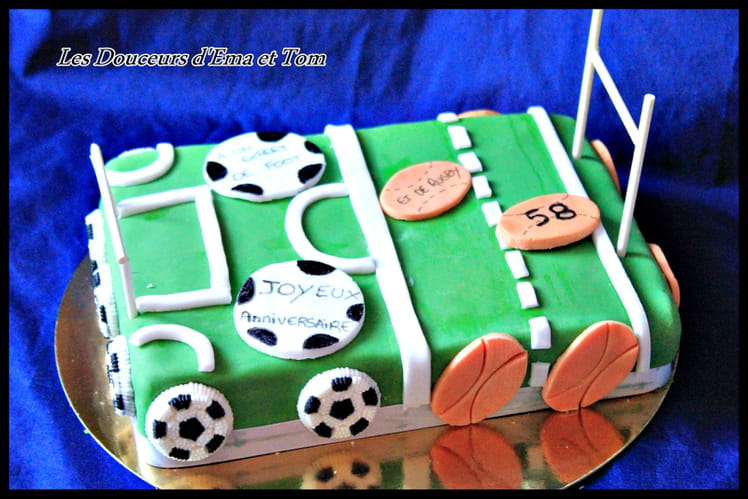 Gâteau foot-rugby