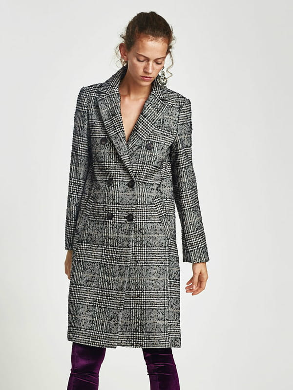manteau  u00e0 carreaux de zara