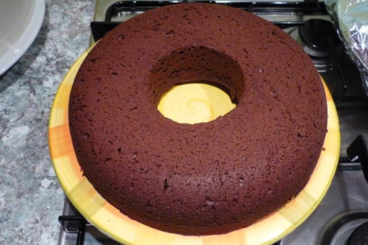 Couronne de chocolat noir au gingembre