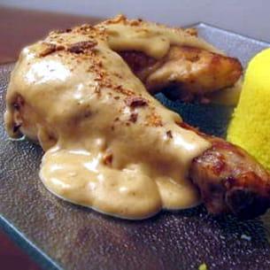 poulet sauce miel aux éclats d'amande
