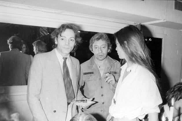Avec Patrick Dewaere et Serge Gainsbourg à une soirée au Palace, en 1980