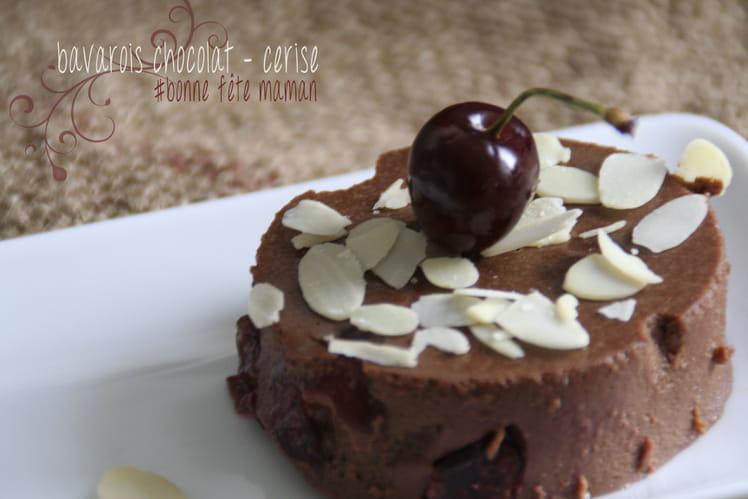 Bavarois chocolat-cerises