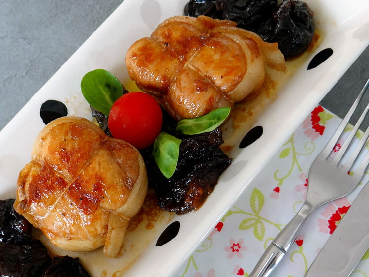 Paupiettes de veau aux pruneaux et l armagnac - Cuisiner des paupiettes ...