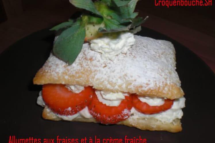 Feuilleté aux fraises et à la chantilly