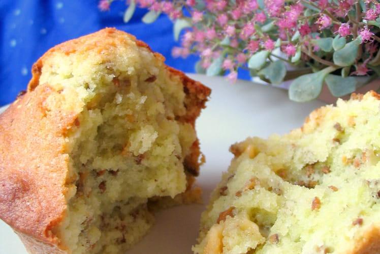 Muffins pistache et chocolat blanc