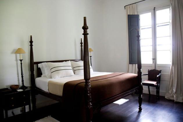 Chambre de style colonial