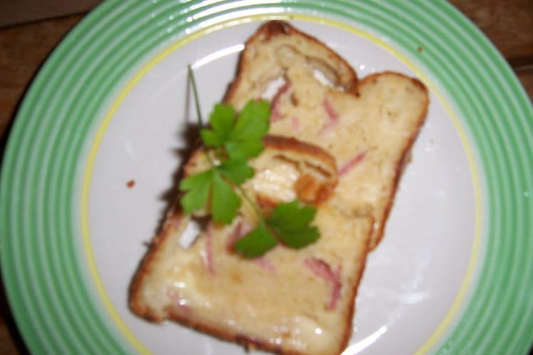 Cake jambon, bière et moutarde