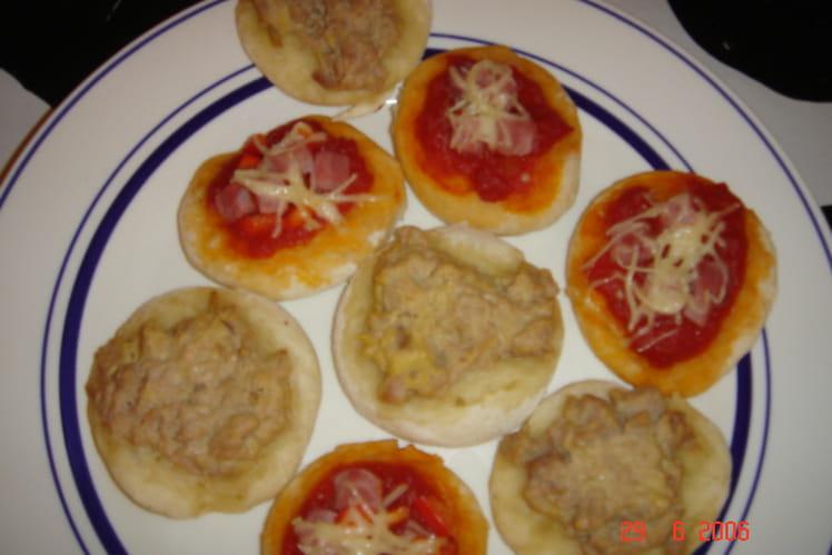 Mini-pizzas apéritives