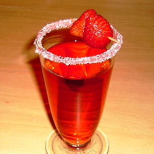 cocktail aux fruits rouges