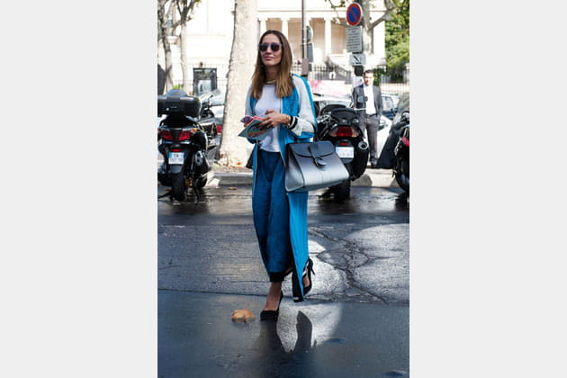 Street looks fashion week Paris: sportswear chic