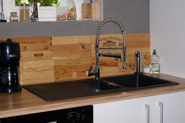 Caisse De Vin Déco avec des caisses de vin en bois
