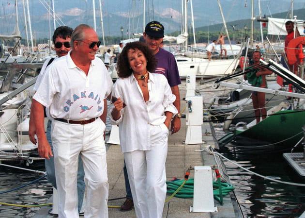 Jean-Marie et Jany Le Pen, à Calvi en Corse (1996)