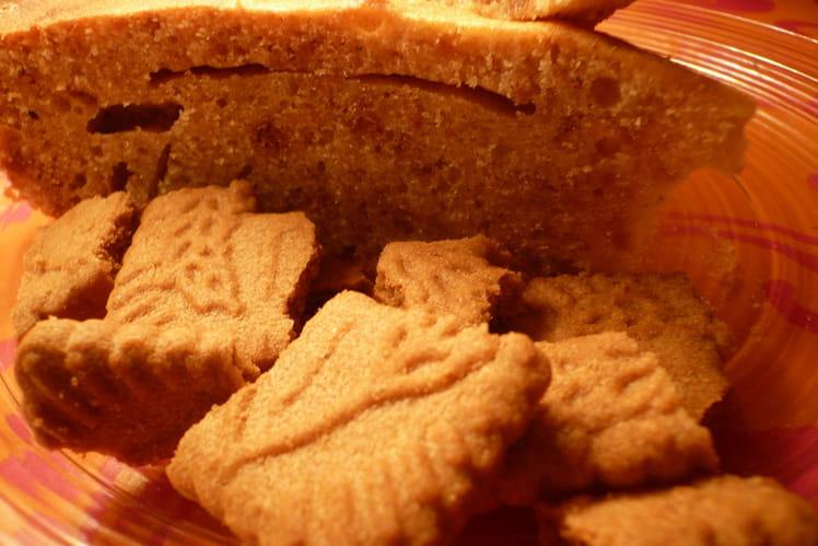 Gâteau aux speculoos et chocolat blanc
