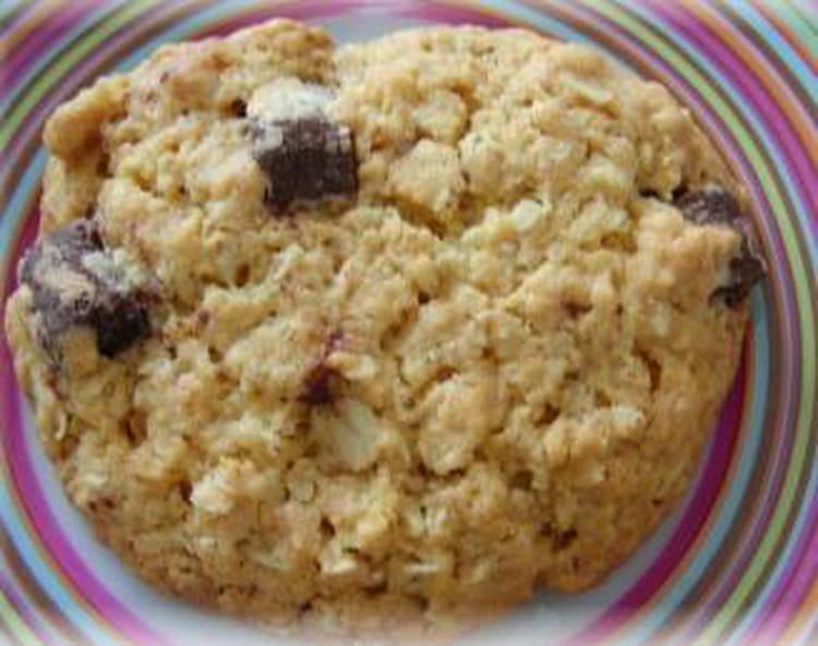 recette de cookies aux flocons d 39 avoine la recette facile. Black Bedroom Furniture Sets. Home Design Ideas